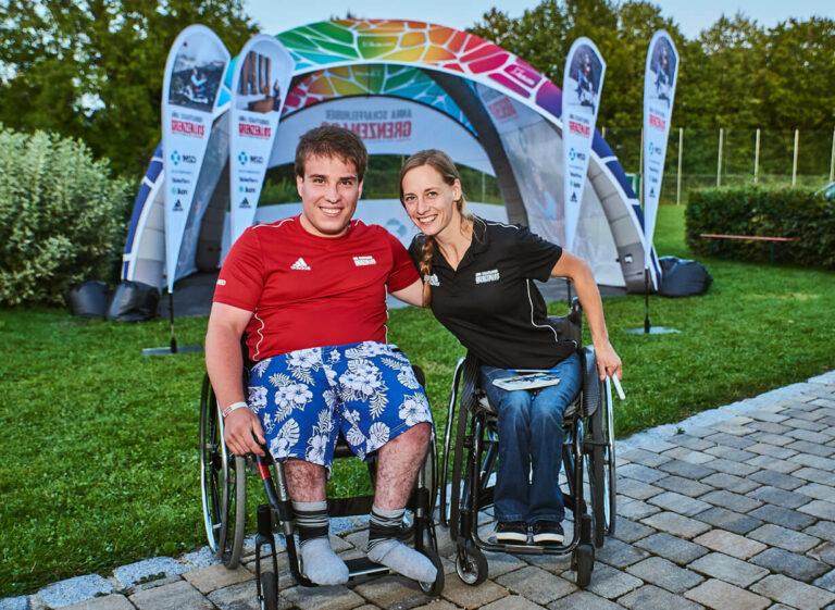 Anna Schaffelhuber mit Camp-Teilnehmer