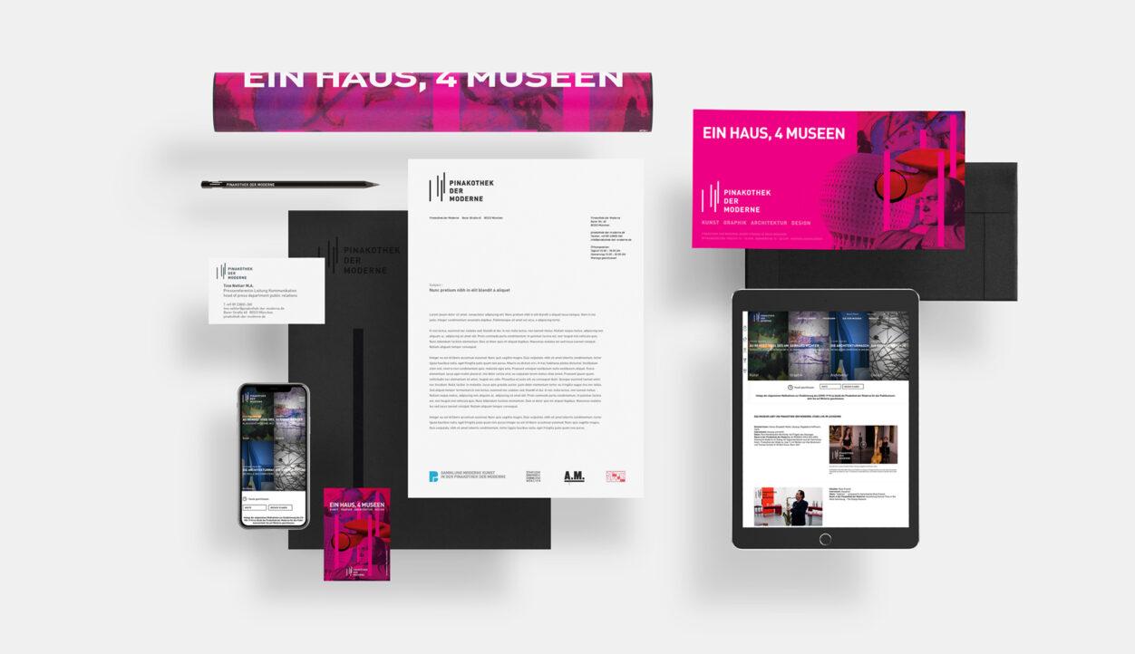 Website Pinakothek der Moderne