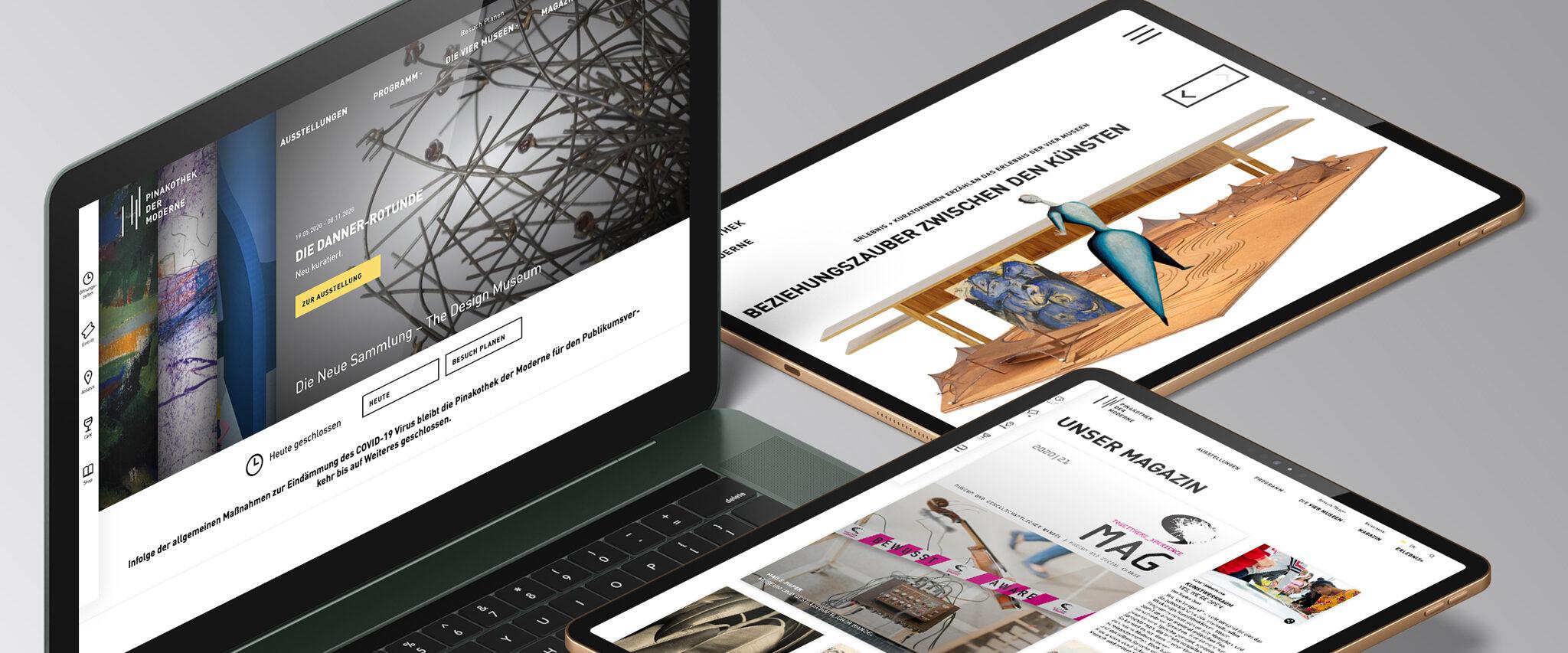Website der Pinakothek