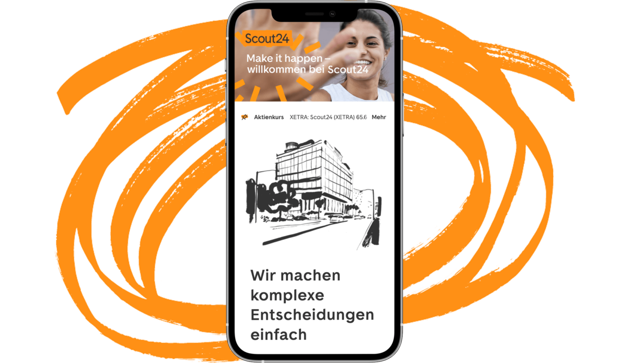 Scout Website auf Smartphone