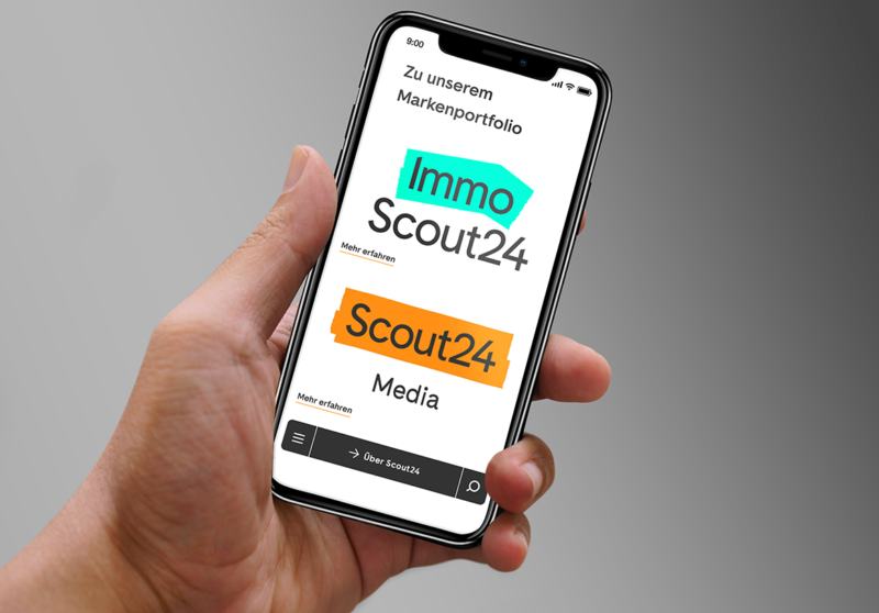 Scout Website auf dem Smartphone